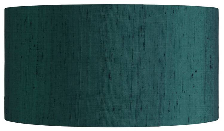 Habitat Drum Silk 49cm Shade - Ink Blue