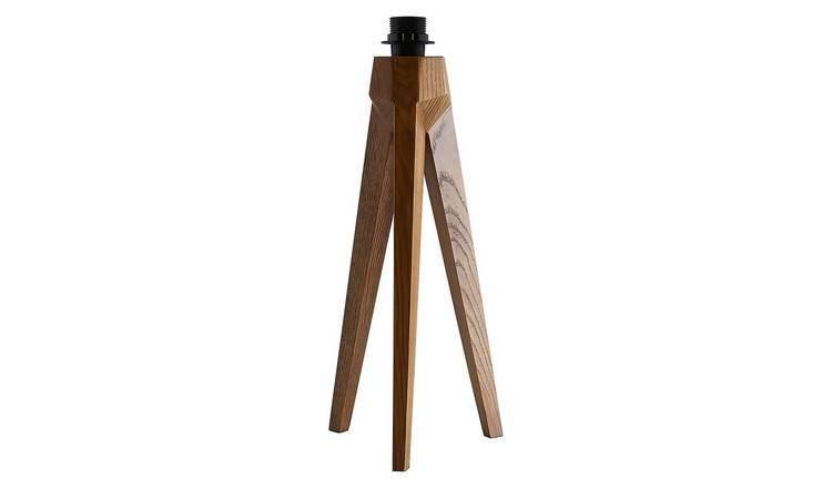 Habitat Tripod Table Lamp Base - Walnut Stain