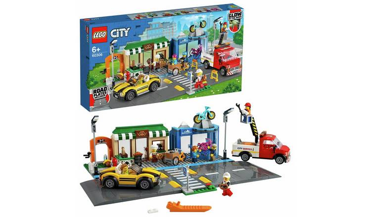 LEGO City Shopping Street Vehicles and Road Plates Set 60306
