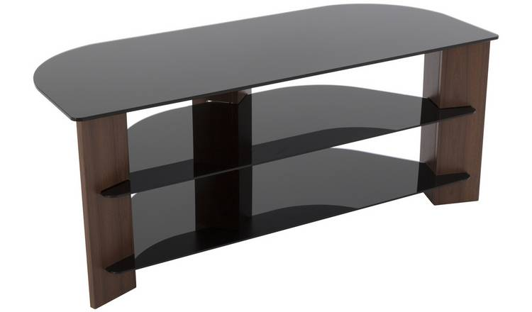 sports shoes 3db69 1b7d0 Buy AVF Up To 55 Inch TV Stand - Black Glass and Walnut Effect | TV stands  | Argos