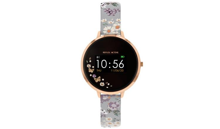 Reflex Active Series 3 Ladies Grey Floral Strap Smart Watch