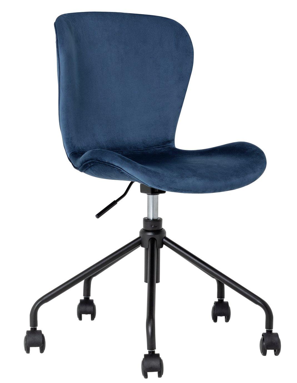 Habitat Etta Blue Velvet Office Chair
