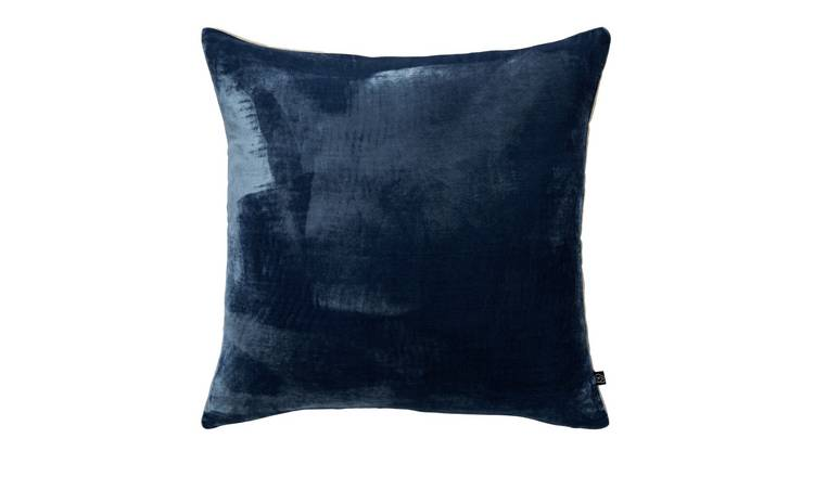 Habitat Regency 45 x 45cm Velvet Cushion - Ink Blue