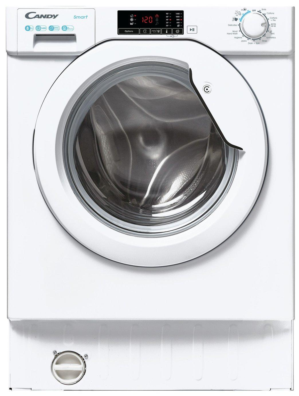 Candy CBW 48D1E 8KG Integrated Washing Machine - White