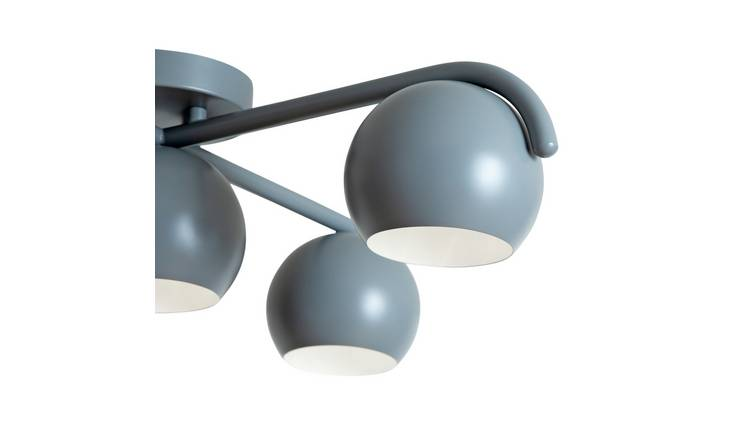 Habitat Jimi 5 Light Flush Ceiling Light - Grey