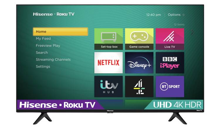 Hisense Roku 50 Inch R50A7200UK Smart 4K HDR LED Freeview TV
