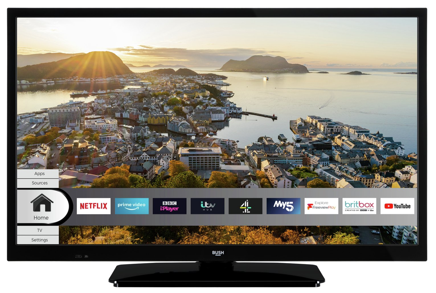 Bush 24 Inch Smart HD Ready HDR Freeview TV