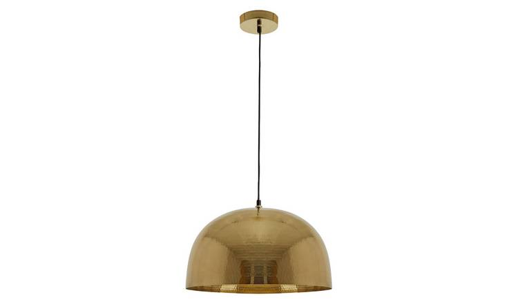 Habitat Pari Hand Beaten Metal Pendant Light- Gold