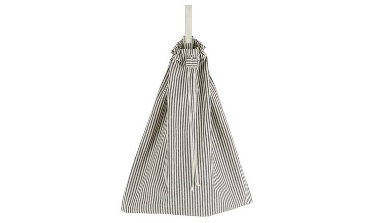 Habitat Jericho Laundry Bag - Black and White Stripe