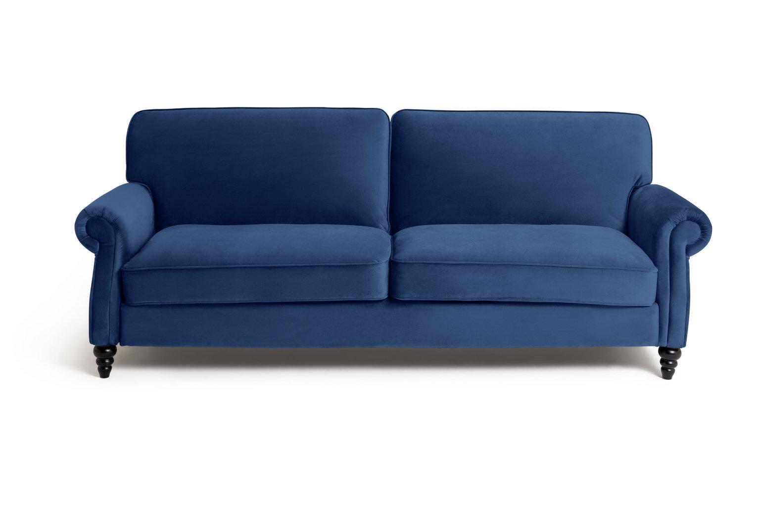 Habitat Joel 3 Seater Fabric Sofa Bed - Navy