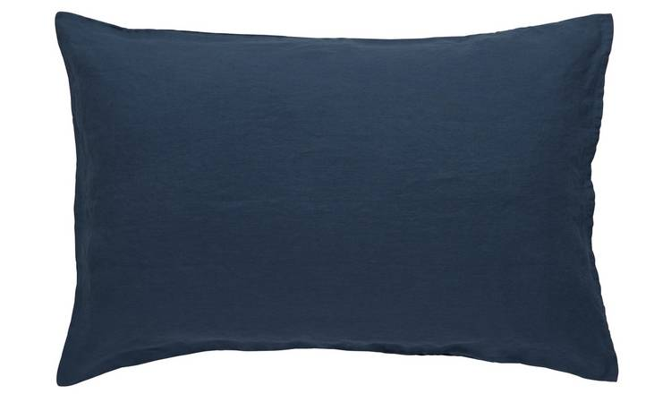 Habitat Linen Petrol Blue Bedding Set - Super King