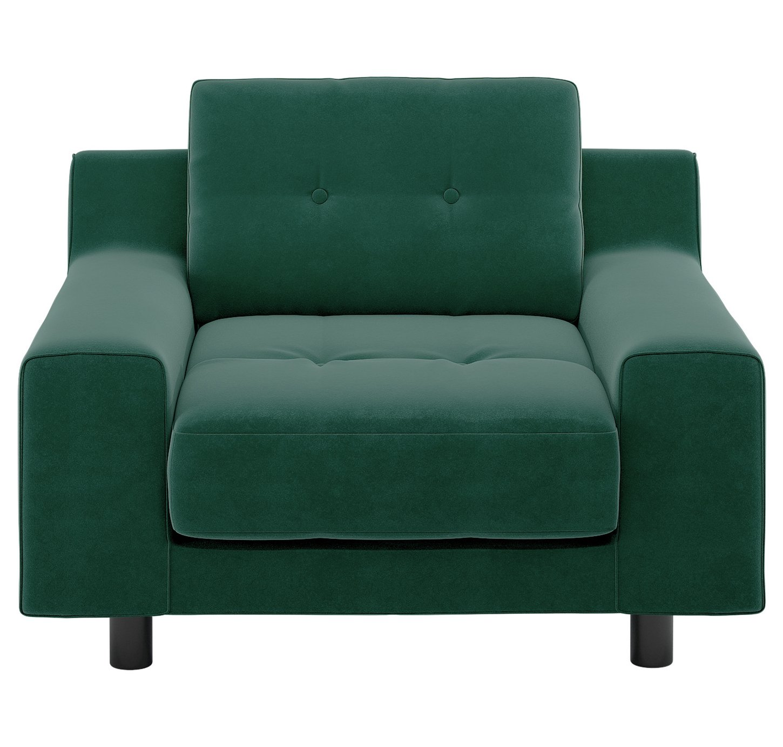 Habitat Hendricks Emerald Green Velvet Armchair