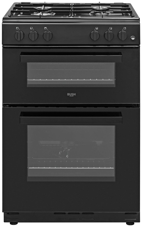 Bush BGC60TBX 60cm Twin Cavity Gas Cooker - Black