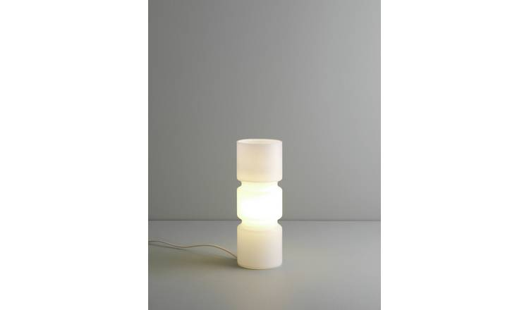 Habitat Fitz Glass Table Lamp - White