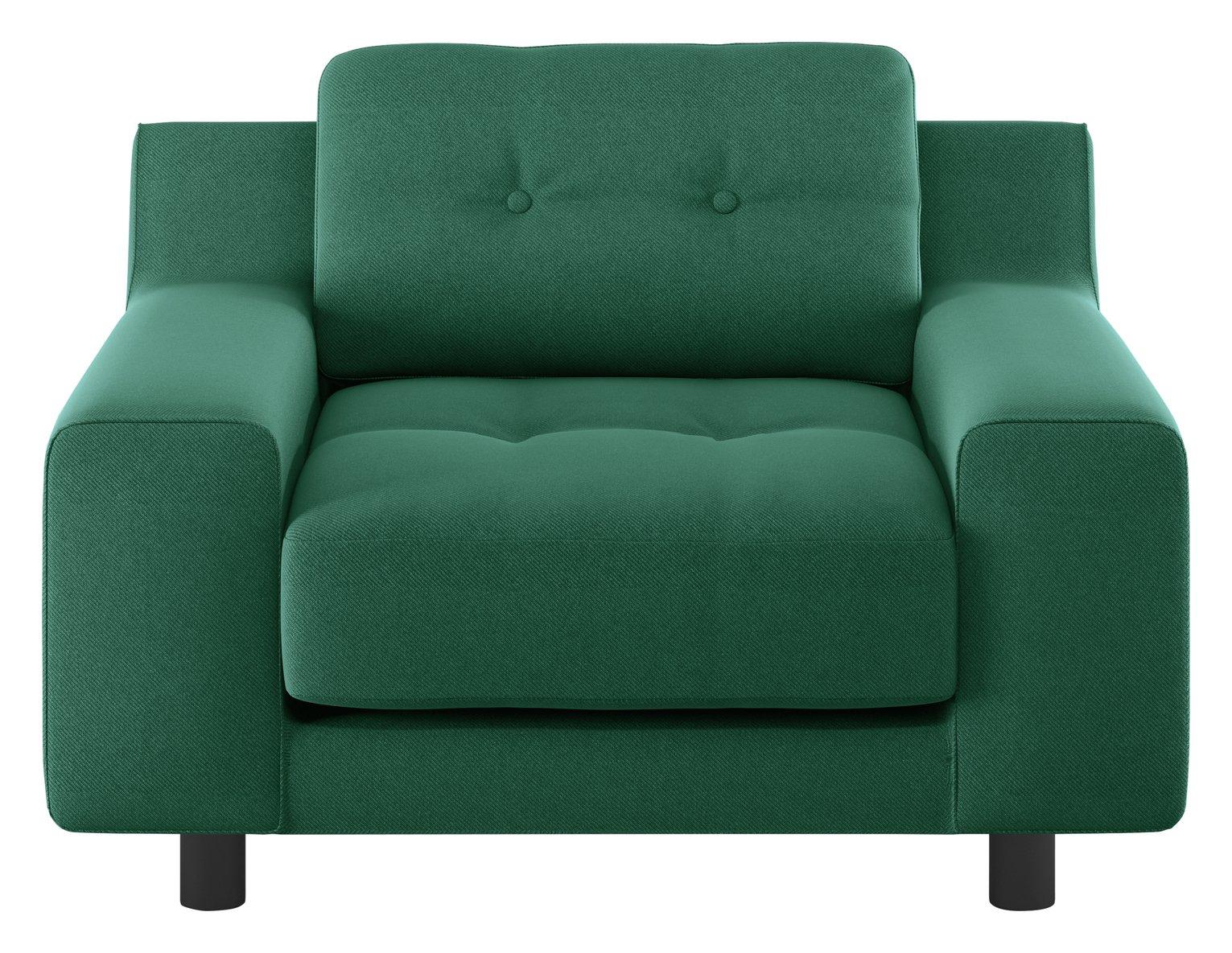 Habitat Hendricks Green Fabric Armchair