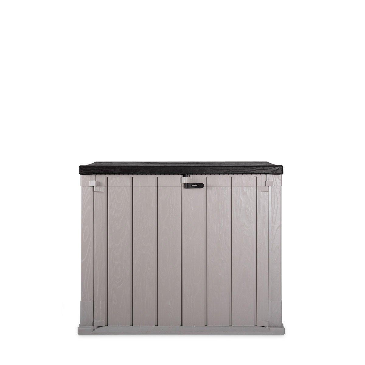 Toomax Storaway 842L Wood Effect Garden Storage Shed - Grey