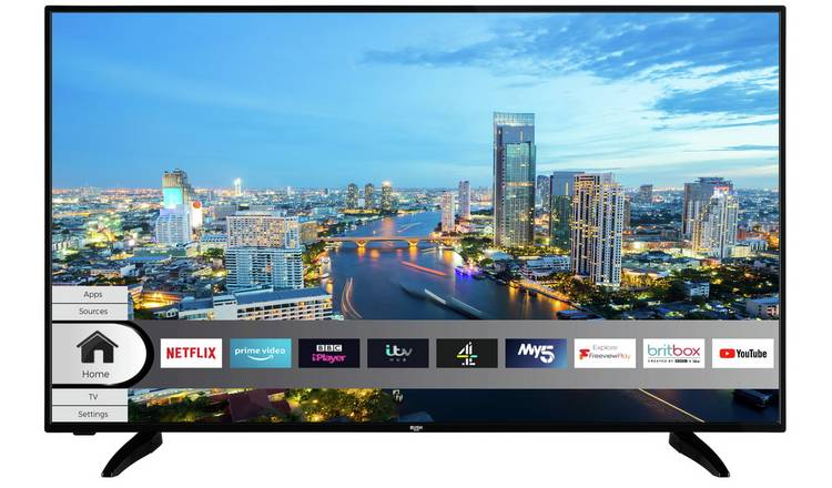 Bush 50 Inch 4K Smart UHD DLED HDR Freeview TV