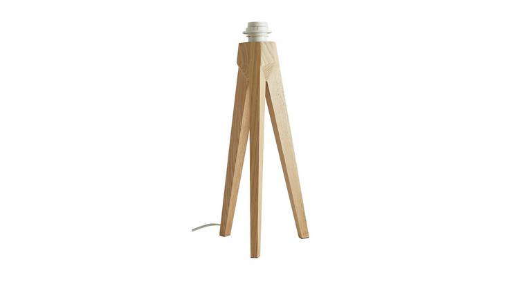 Habitat Tripod Table Lamp with Ash Wood Base