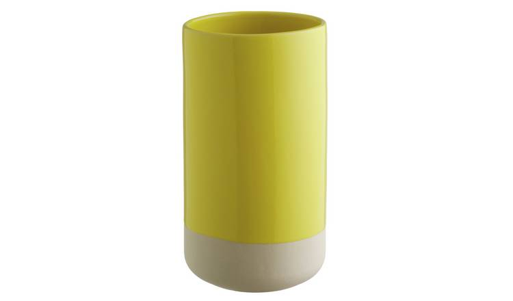 Habitat Garda Yellow Ceramic Vase
