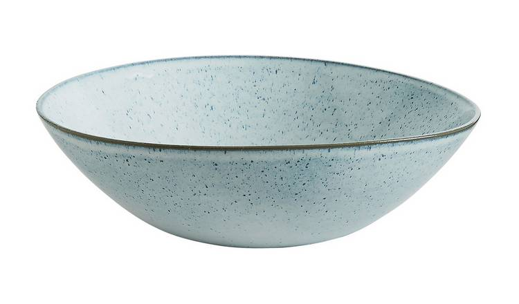 Habitat Olmo Speckled Salad Bowl - Light Blue