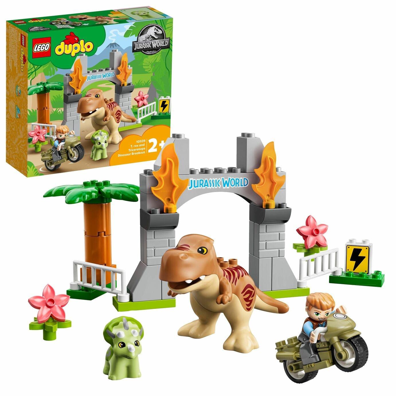 LEGO DUPLO Jurassic World T Rex Dinosaur Motorbike Toy 10939