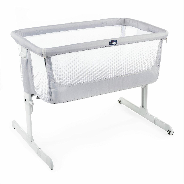 Chicco Next 2 Me Air Bedside Sleeper Crib - Stone