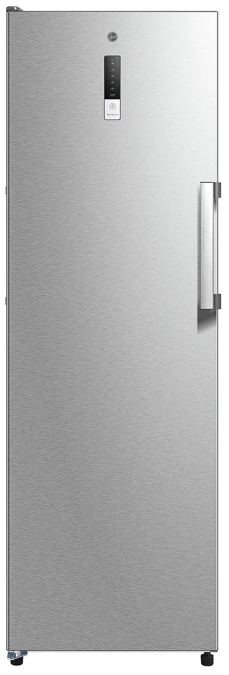 Hoover HFF1862KM Freestanding Upright Freezer, Frost Free, 260L, 185cm Tall, 60cm wide, Stainless Steel