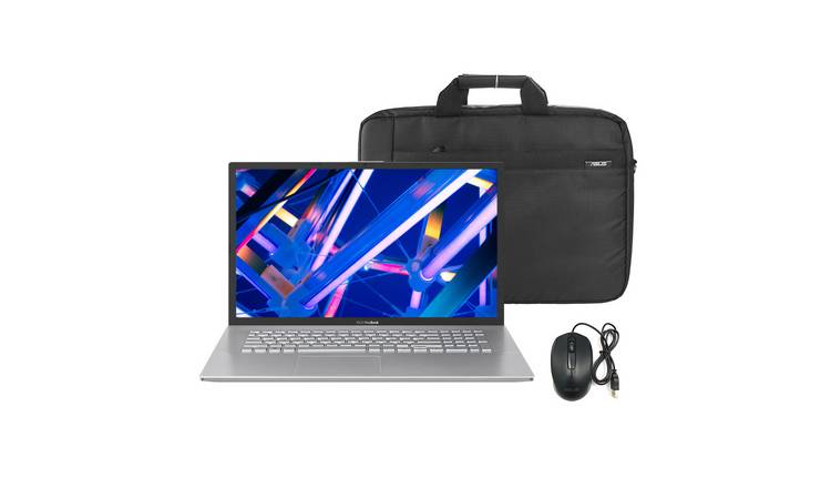 ASUS VivoBook 17 M712 17.3in R5 8GB 1TB Laptop & Bag