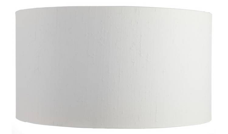 Habitat Drum Silk 49cm Shade - White