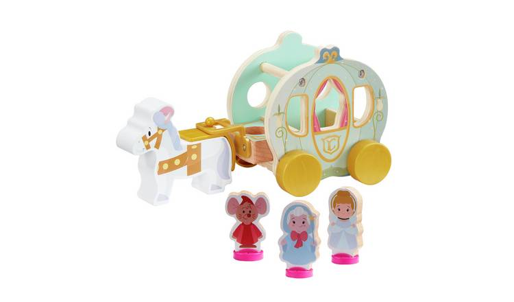 Disney Princess Cinderella Wooden Pumpkin Carriage Playset
