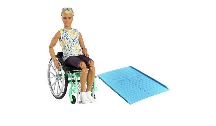 Barbie Fashionista Ken with Wheelchair and Ramp