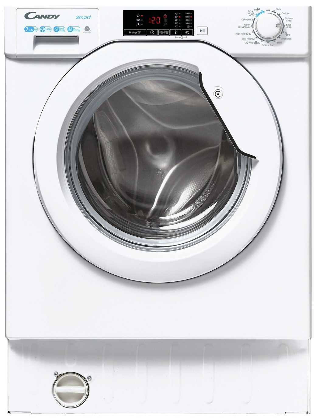 Candy CBD 475D1E/1 7KG / 5KG Integrated Washer Dryer - White