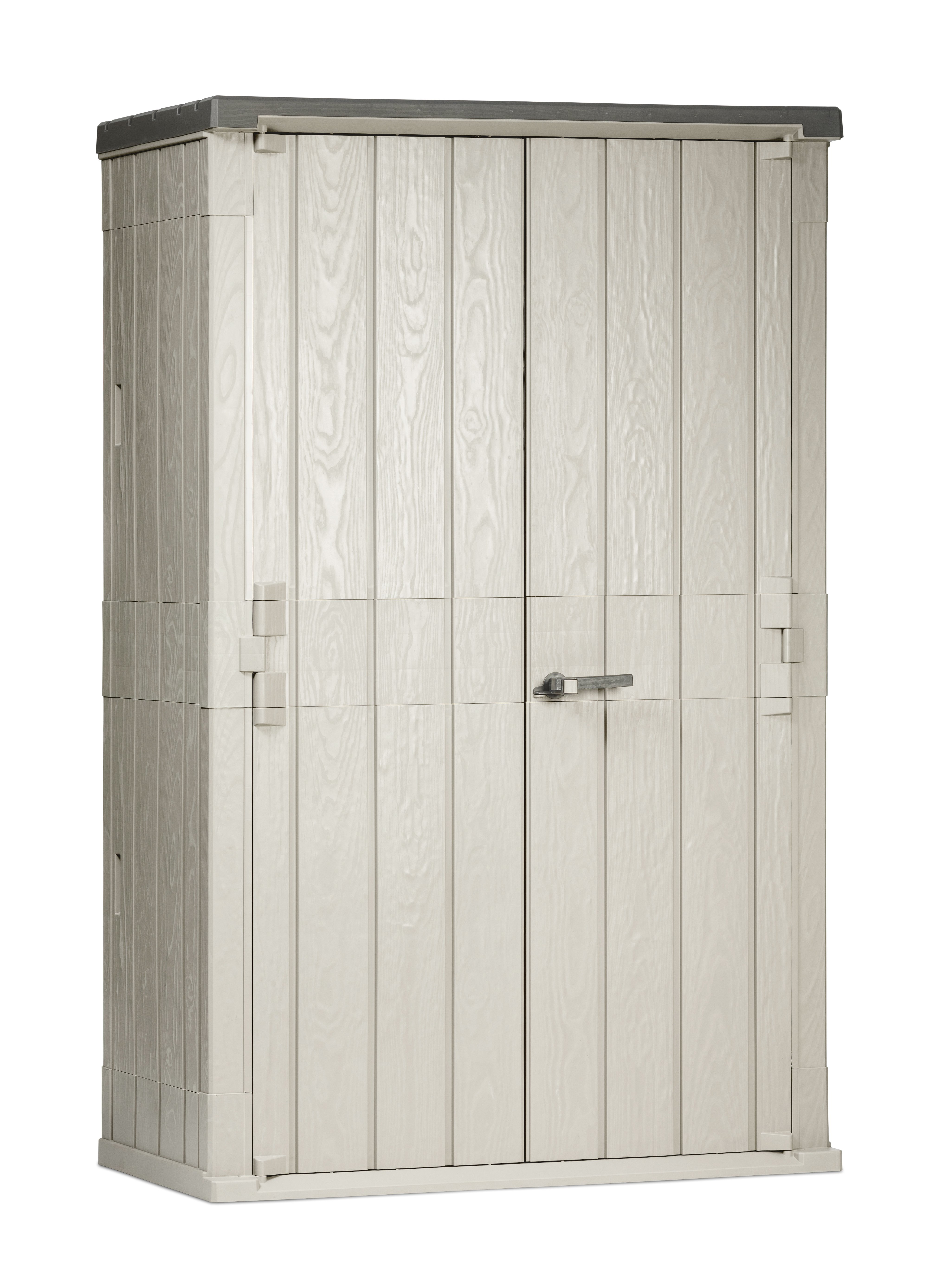 Toomax Storaway 1670L Wood Effect Garden Storage Box - Grey