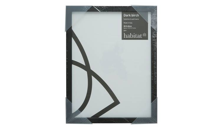 Habitat Dark Birch 30 X 40cm/12 X 16inch Black Picture Frame