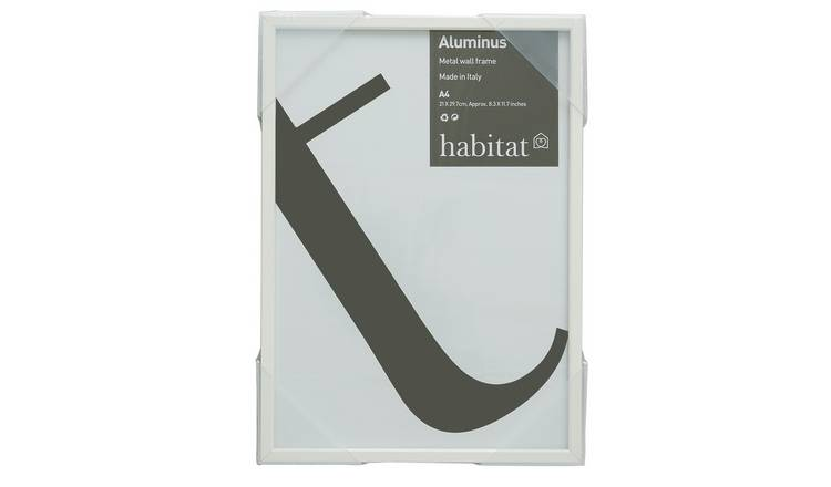 Habitat Aluminus A4/8 X 12inch White Photo Frame