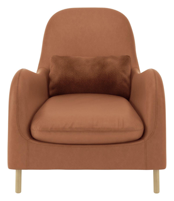 Habitat Smithfield Lux Leather Armchair - Tan