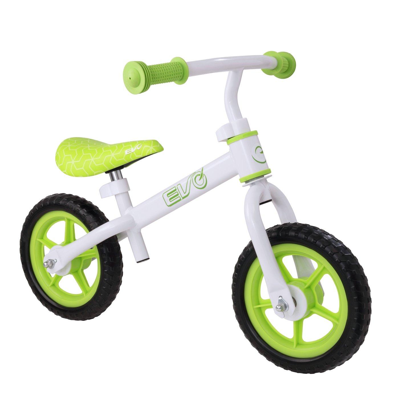 EVO 10 inch Wheel Size Kids Balance Bike - Lime Green