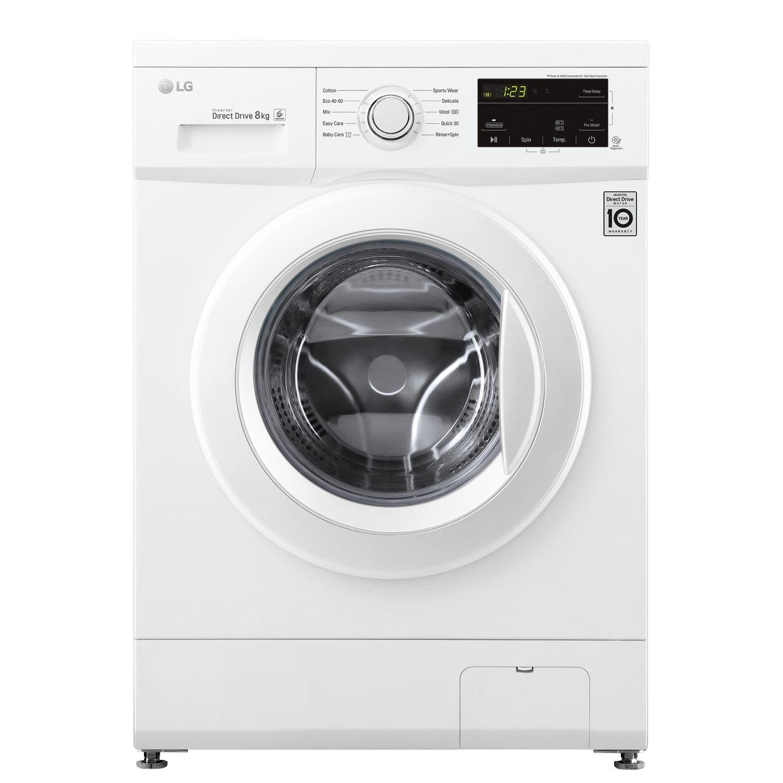 LG F4MT08WE 8KG 1400 Washing Machine - White