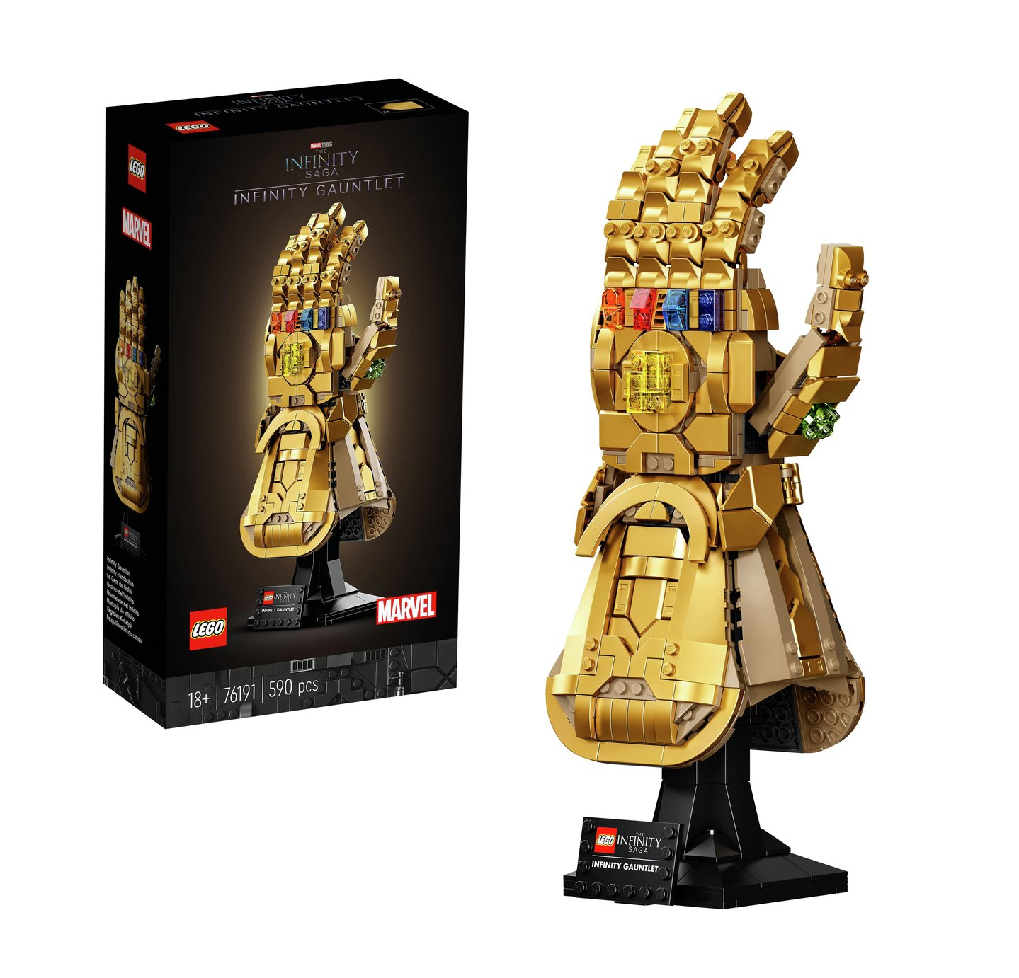 LEGO 76191 Marvel Infinity Gauntlet Building Set, Thanos Glove Model for Adults, Collectible Avengers Gift
