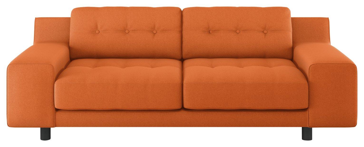 Habitat Hendricks 3 Seater Fabric Sofa - Orange
