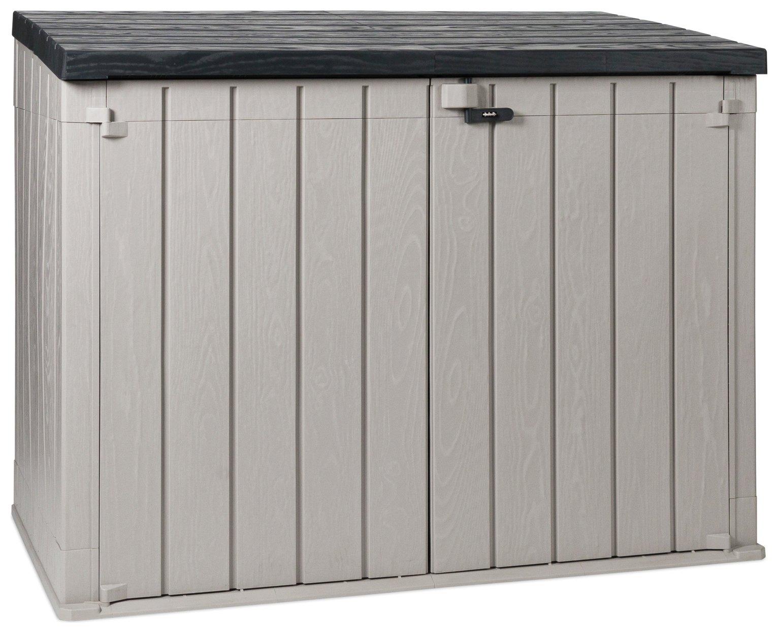 Toomax Storaway 2270L Wood Effect Garden Storage Box - Grey