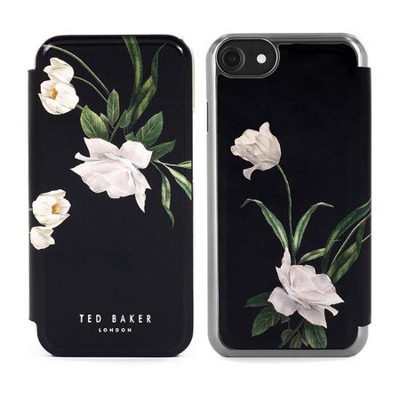 Ted Baker iPhone 7/8/SE Elderflower Folio Phone Case - Black