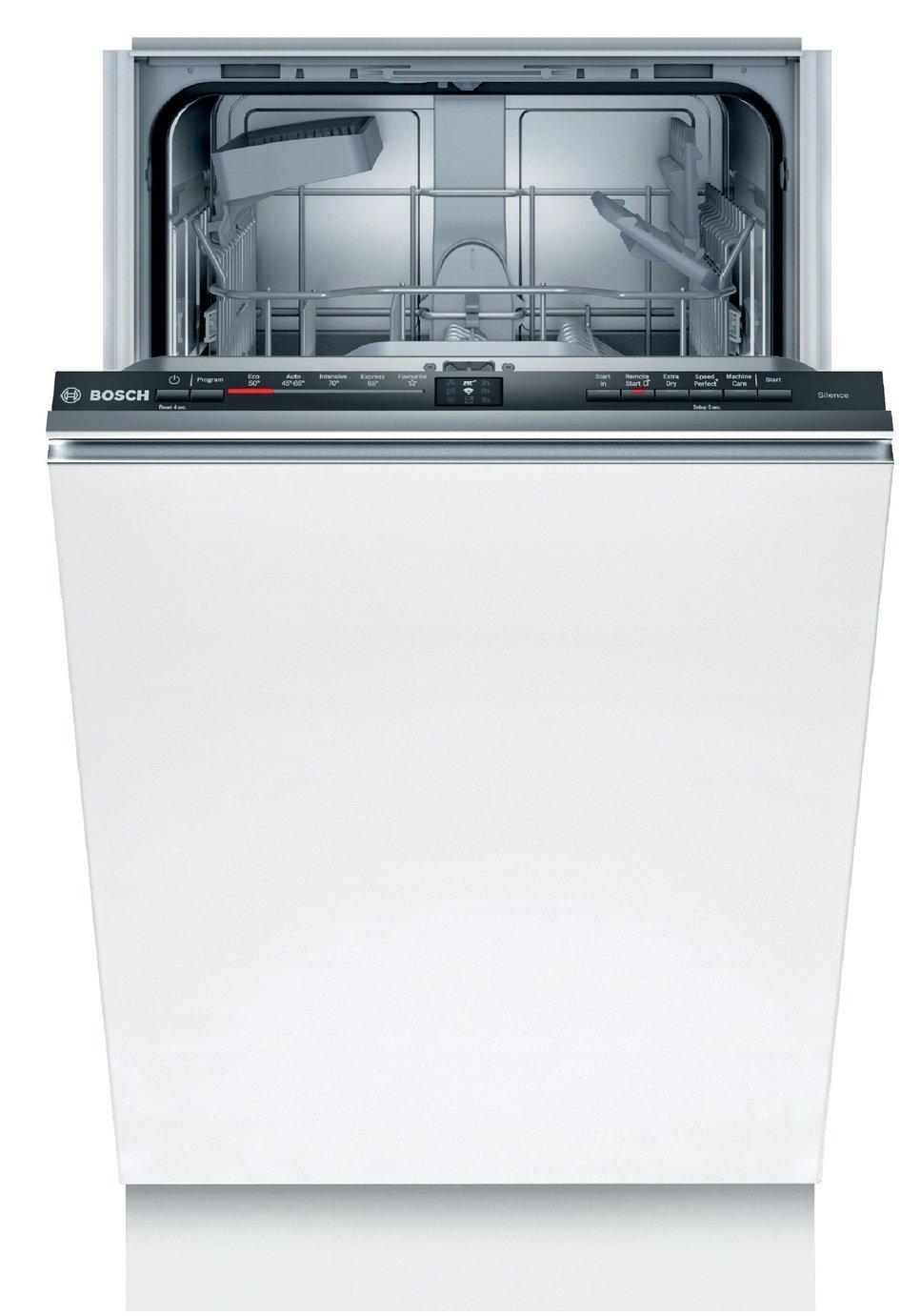 Bosch SPV2HKX39G Slimline Fully Integrated Dishwasher Black