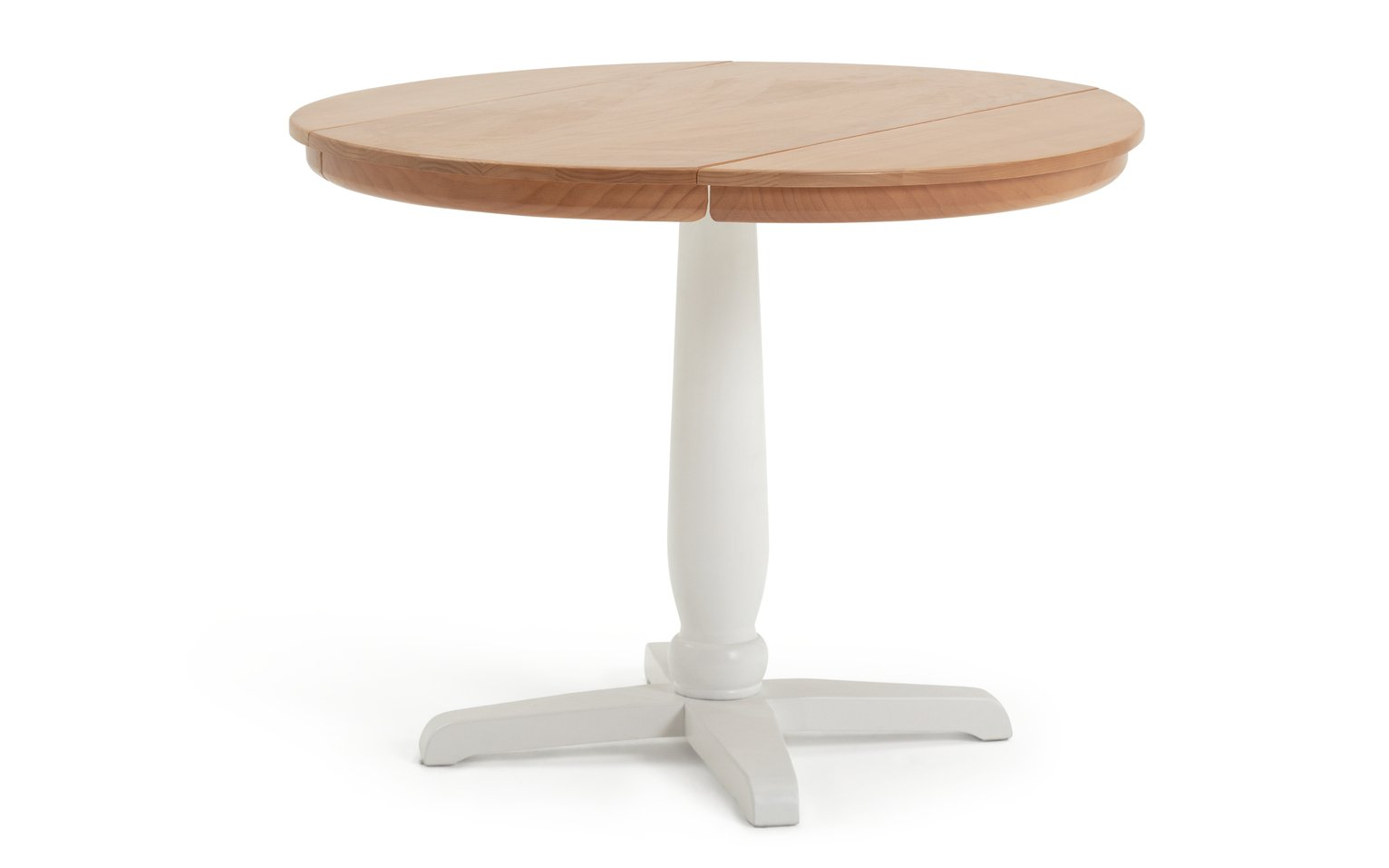 Habitat Otis Solid Wood 4 Seater Dining Table - White