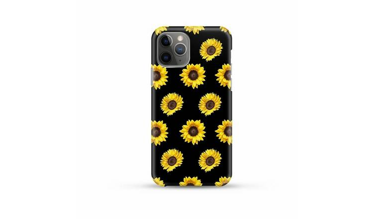 Coconut Lane iPhone 11 Pro Max Sunflower Phone Case - Black