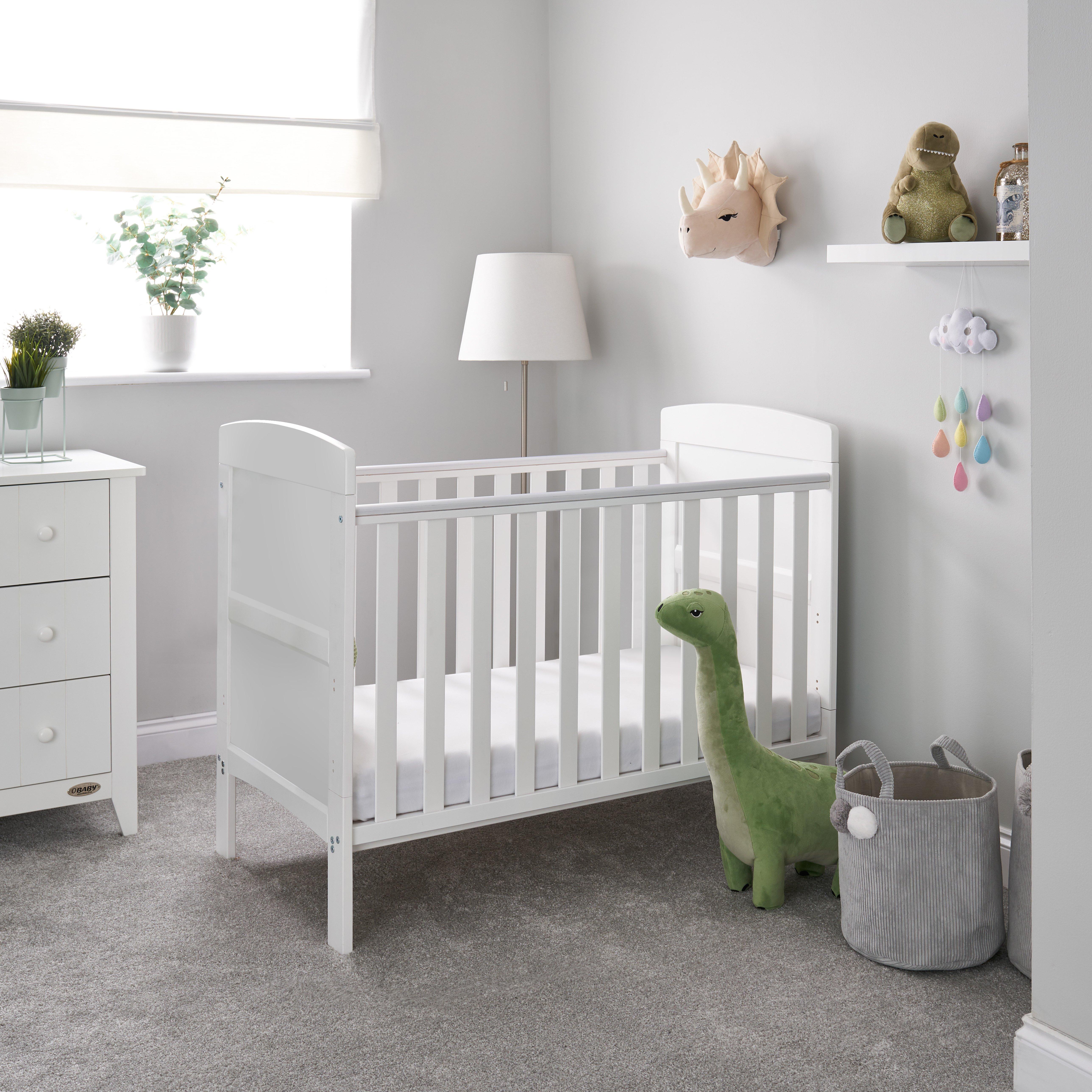 Obaby Grace Mini Cot Bed - White