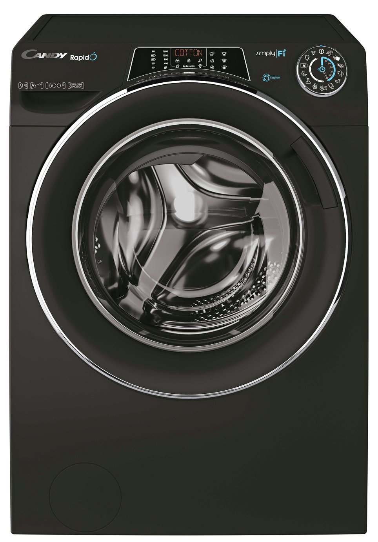 Candy RO1696DWMCEB 9KG 1600 Spin Washing Machine - Black