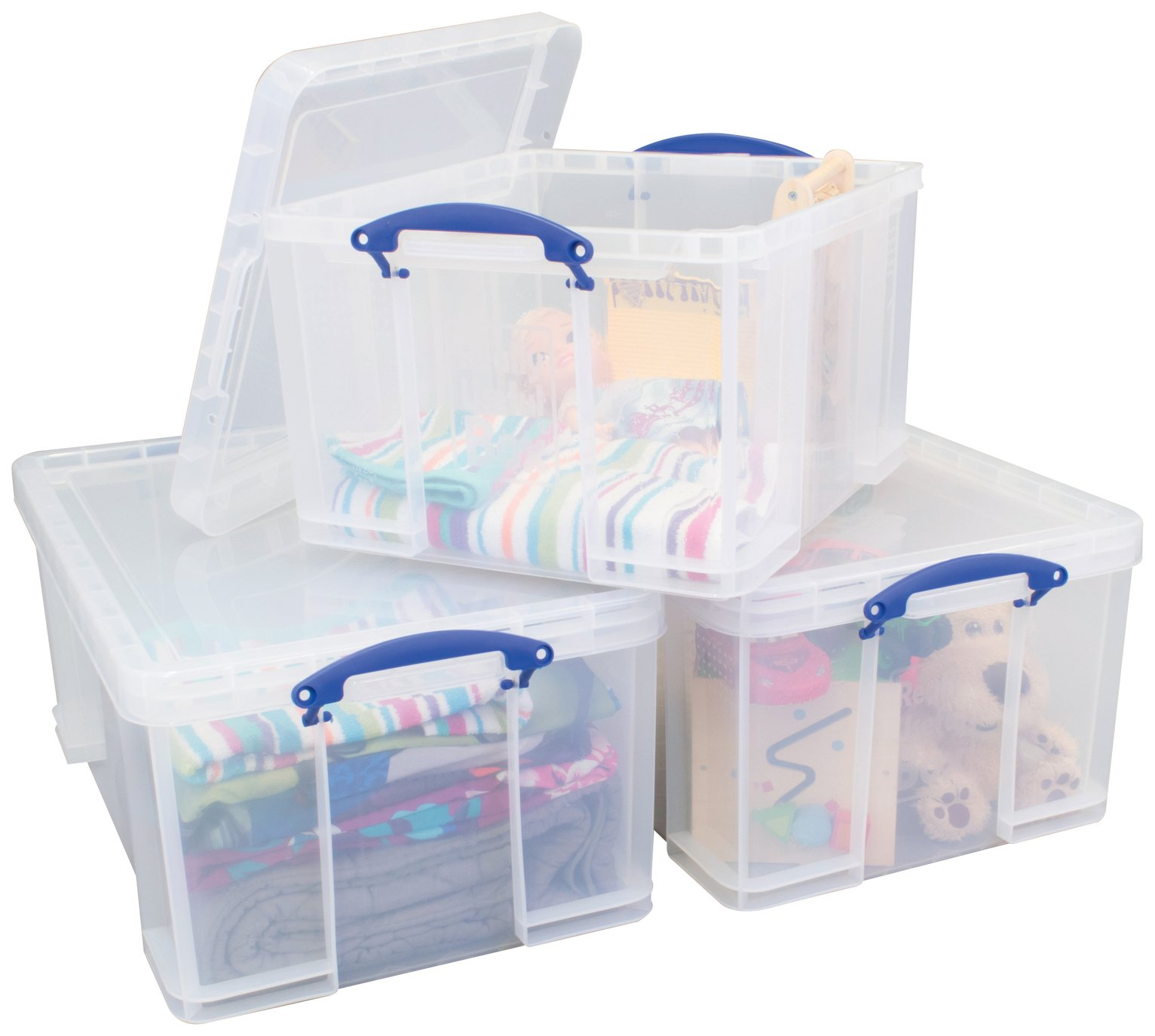 Really Useful 2 x 64 Litre 1 x 42 Litre Storage Boxes Pack