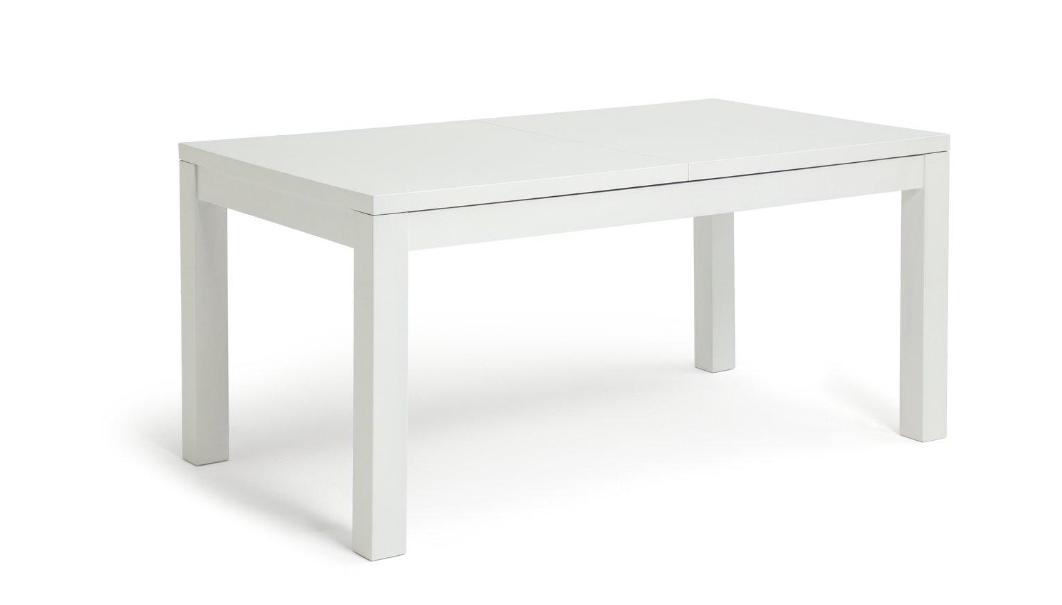 Habitat Lyssa Extending 8-10 Seater Dining Table - White