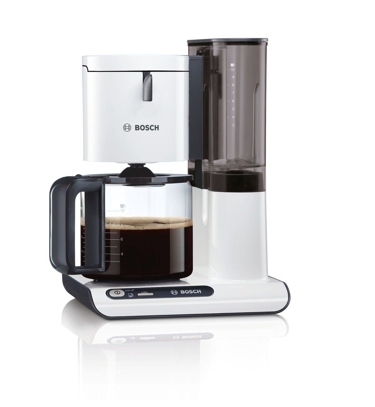 Bosch TKA8011 coffee maker - coffee makers (freestanding, Drip coffee maker, Coffee, Anthracite, White, 50/60 Hz, CE, ROSTEST, VDE)